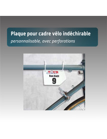 Plaque de cadre Vélo indéchirable